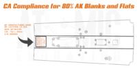 AK Compliance engraving for California. Ca Compliance engraving